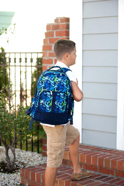 Personalized Blue and Green Backpack