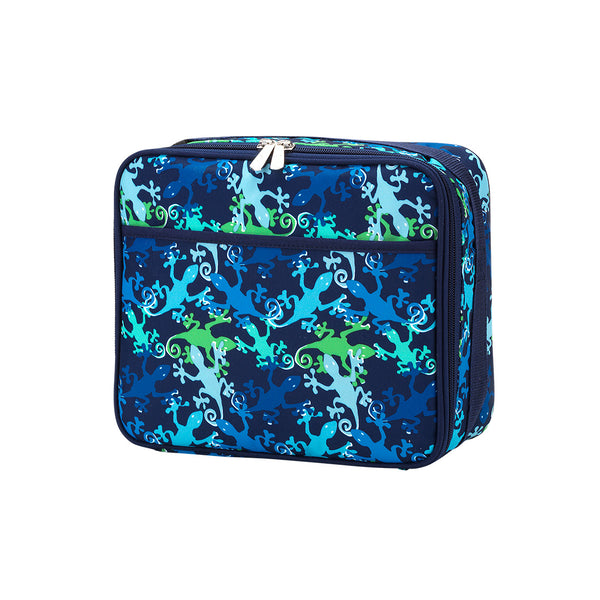 Personalized this Gecko Pattern Lunch Box