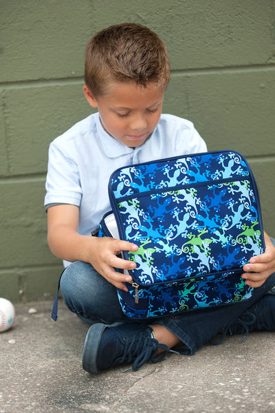 Blue and Green Lunch Bag