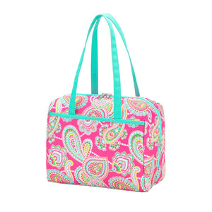 Personalized this Pink Paisley Lunch Tote Bag