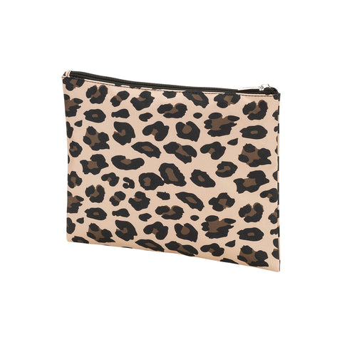 Personalized this Leopard Wild Side Zip Pouch