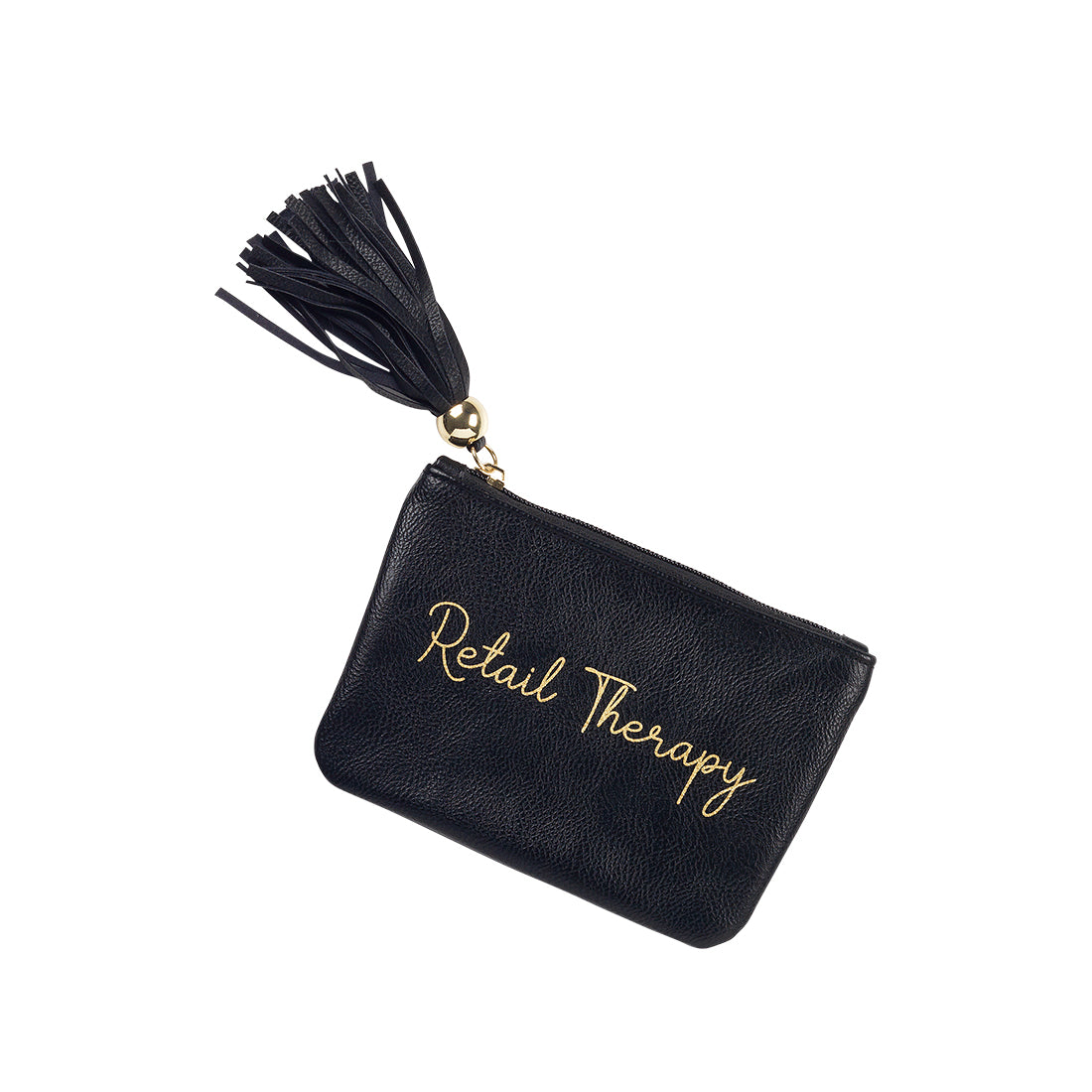 Personalized this Black Retail Therapy Coin Purse