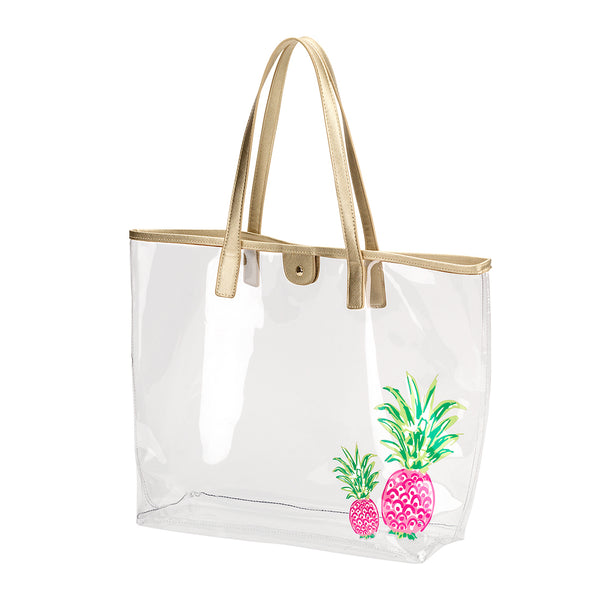 clear pineapple tote