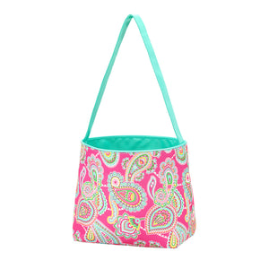Personalized this Pink Paisley Easter Bucket