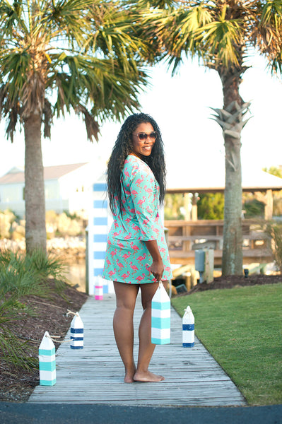 Flamingo Tunic Beach Cover Up