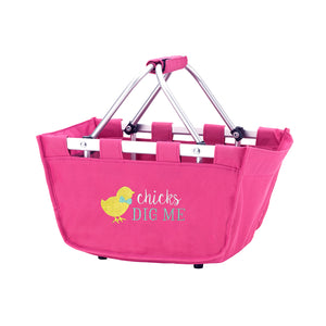 Personalized this Hot Pink Easter Mini Market Tote