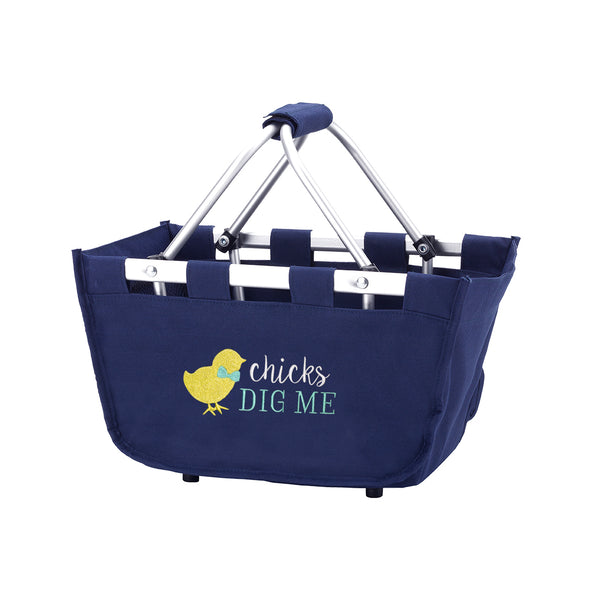 Personalized this Navy Easter Mini Market Tote