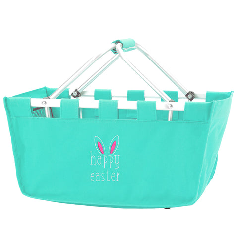 Personalzed this Happy Easter Mint Tote Market Bag