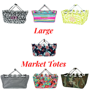 Personalized your Market Tote Bags, comes with different styles that you can choose from.