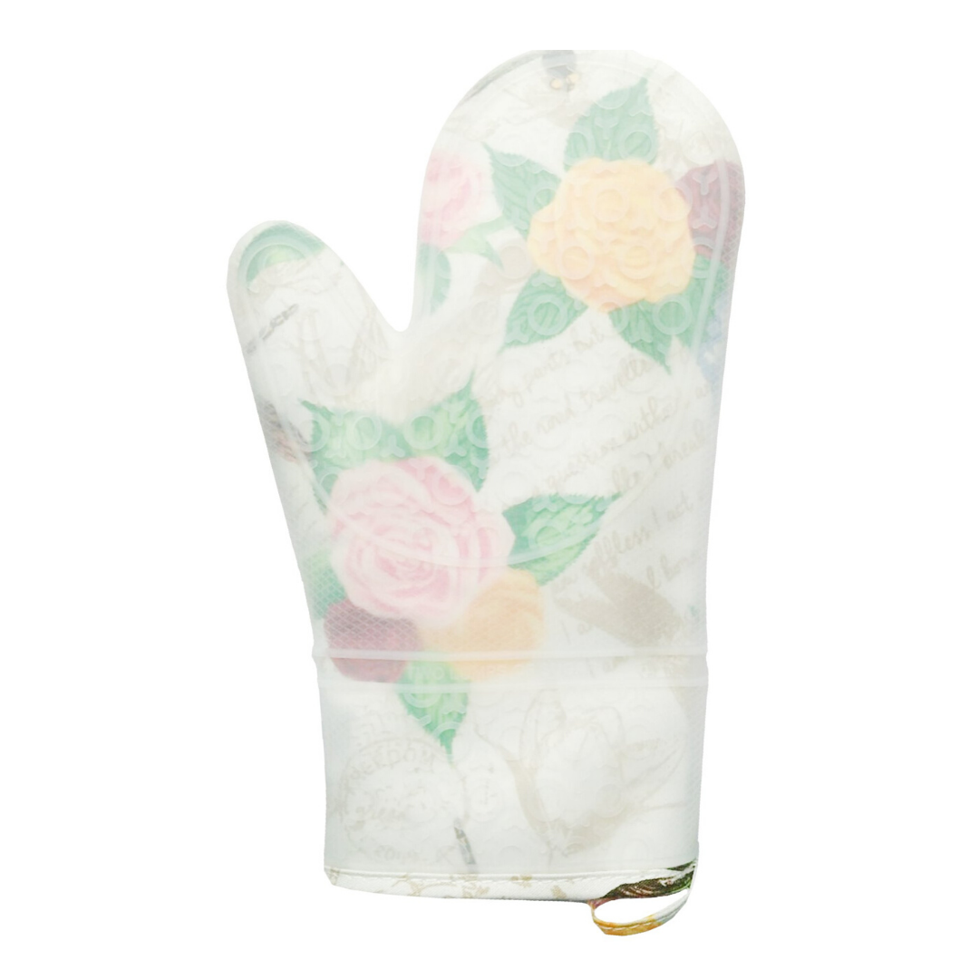 Rose Dragonfly Silicone Oven Mitt