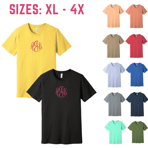 plus size tee, unisex tee, short sleeve