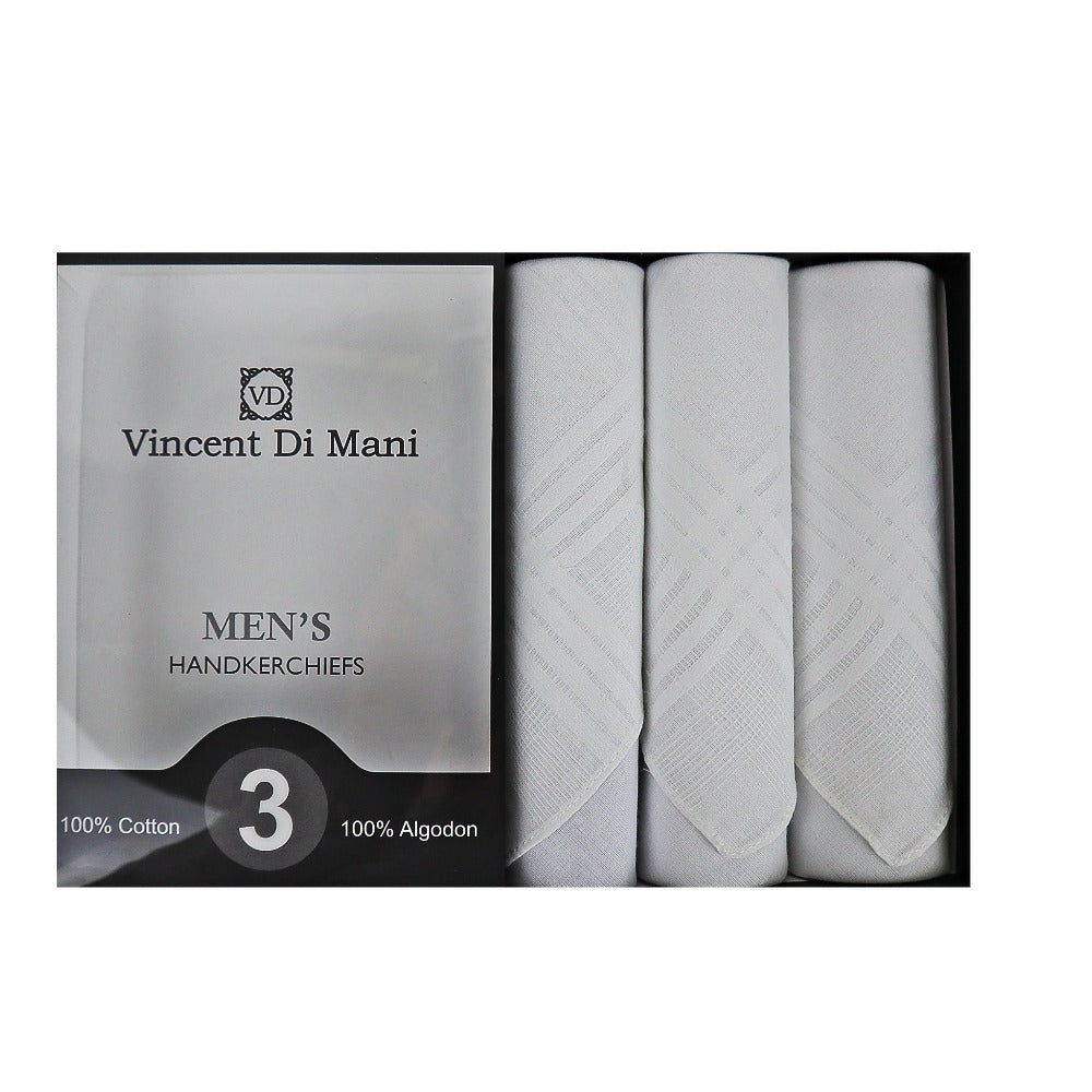 mens handkerchief, white handkerchief, cotton handkerchief