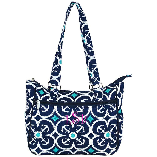 Anchor Quilted Tote Bag