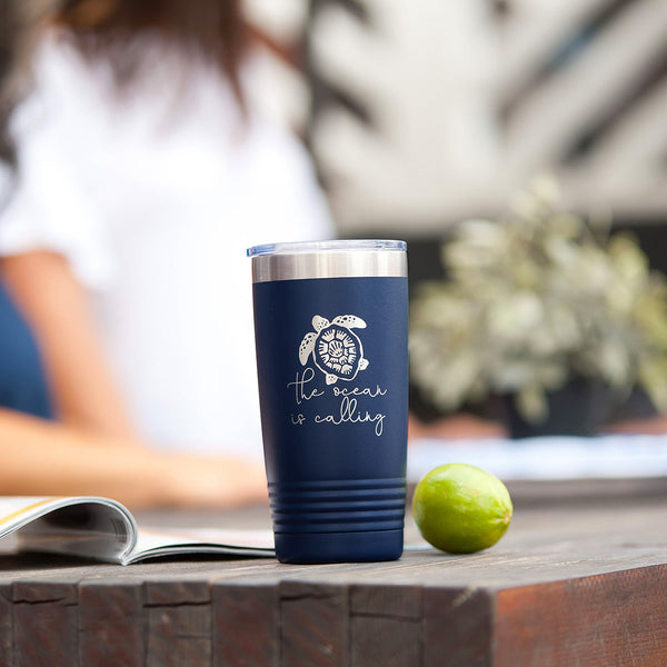 Navy Turtle Insulated Cup
