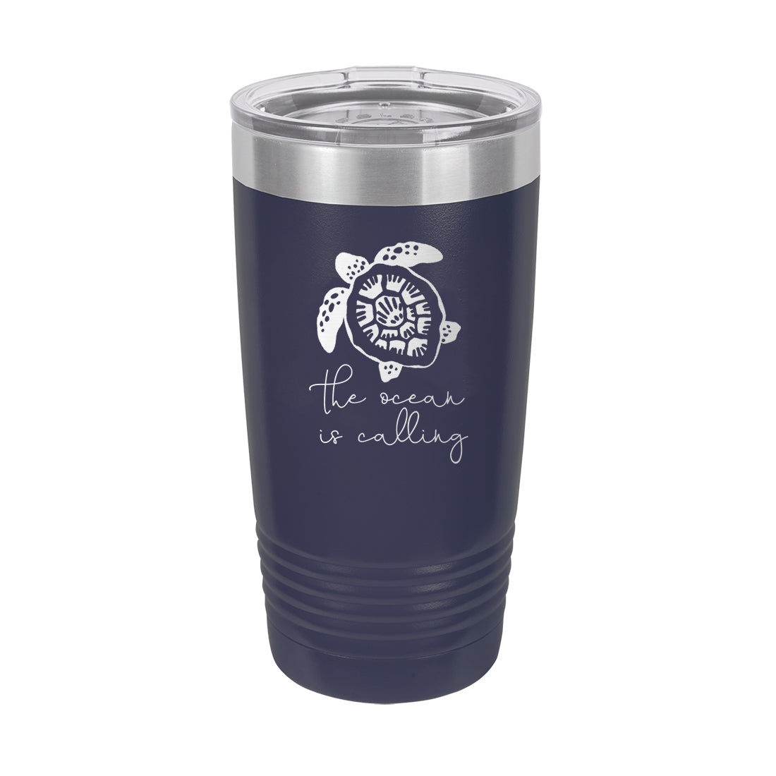 Navy The Ocean Is Calling Insulated Tumbler 20oz