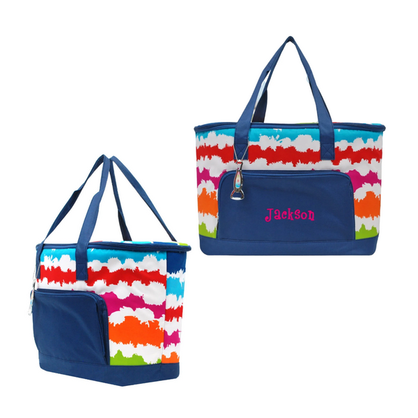 insulated cooler, rainbow tote