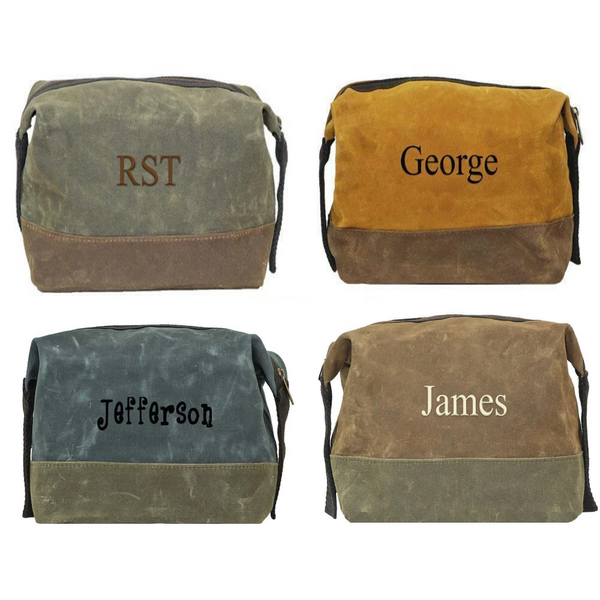 Personalized this Men Dopp Kit Shaver Bag, choose from the color we have perfect for travel.