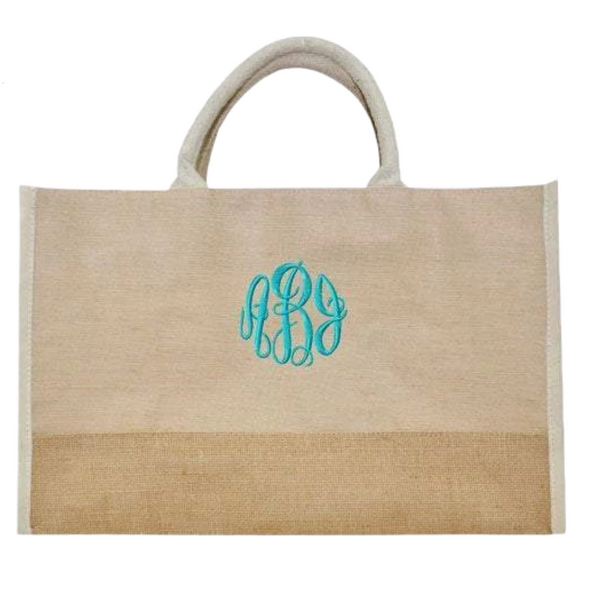 personalized natural tote