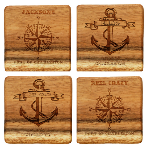 wood coasters, cutting board, coasters