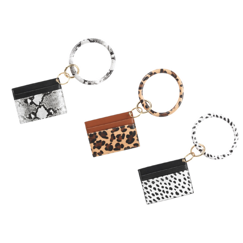 Animal Print Card Holder Bracelet