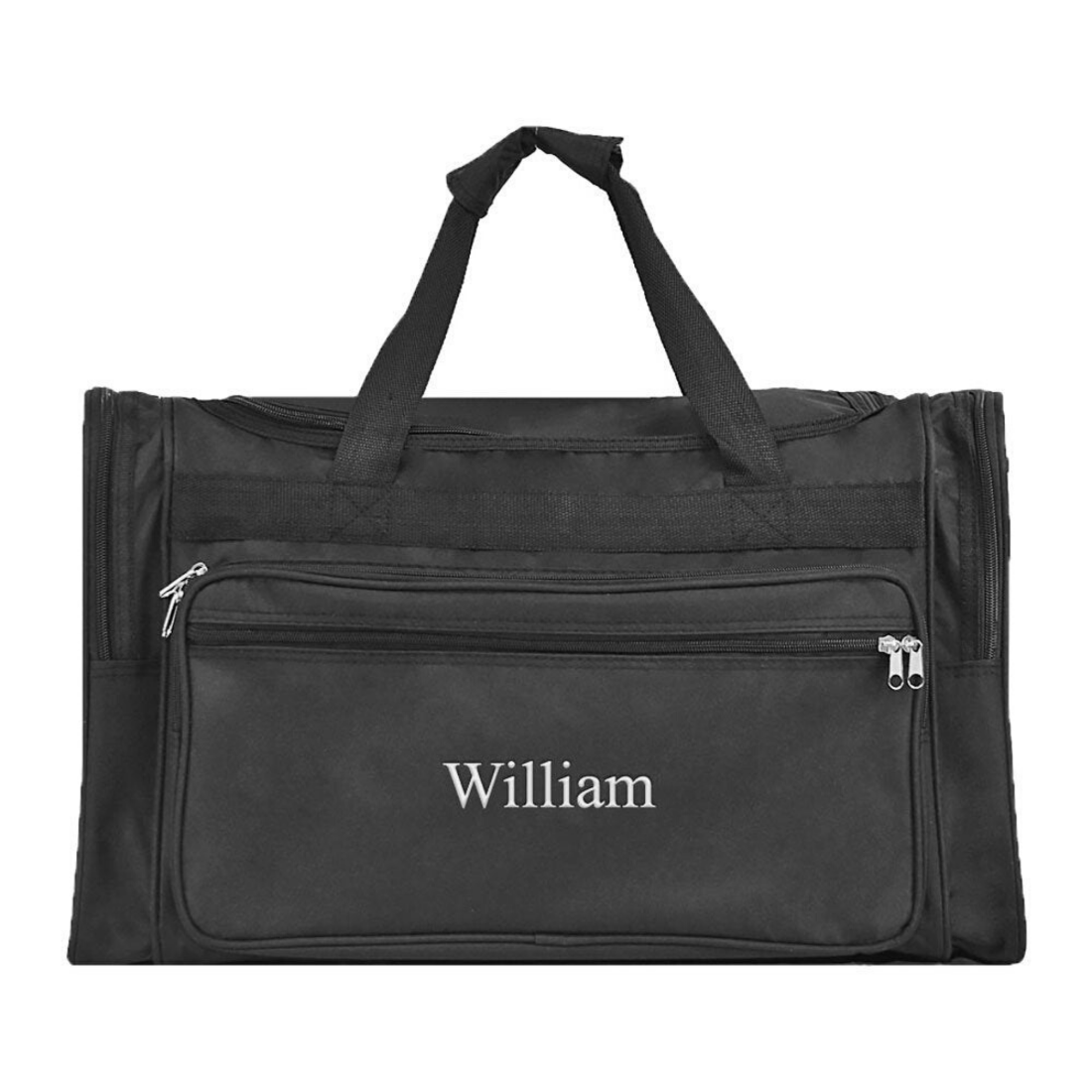Solid Black Duffle for that plane trip, the gym or overnight bag.
