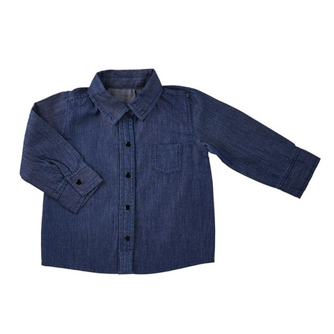 denim shirt, denim, denim shirt with pocket, baby clothing
