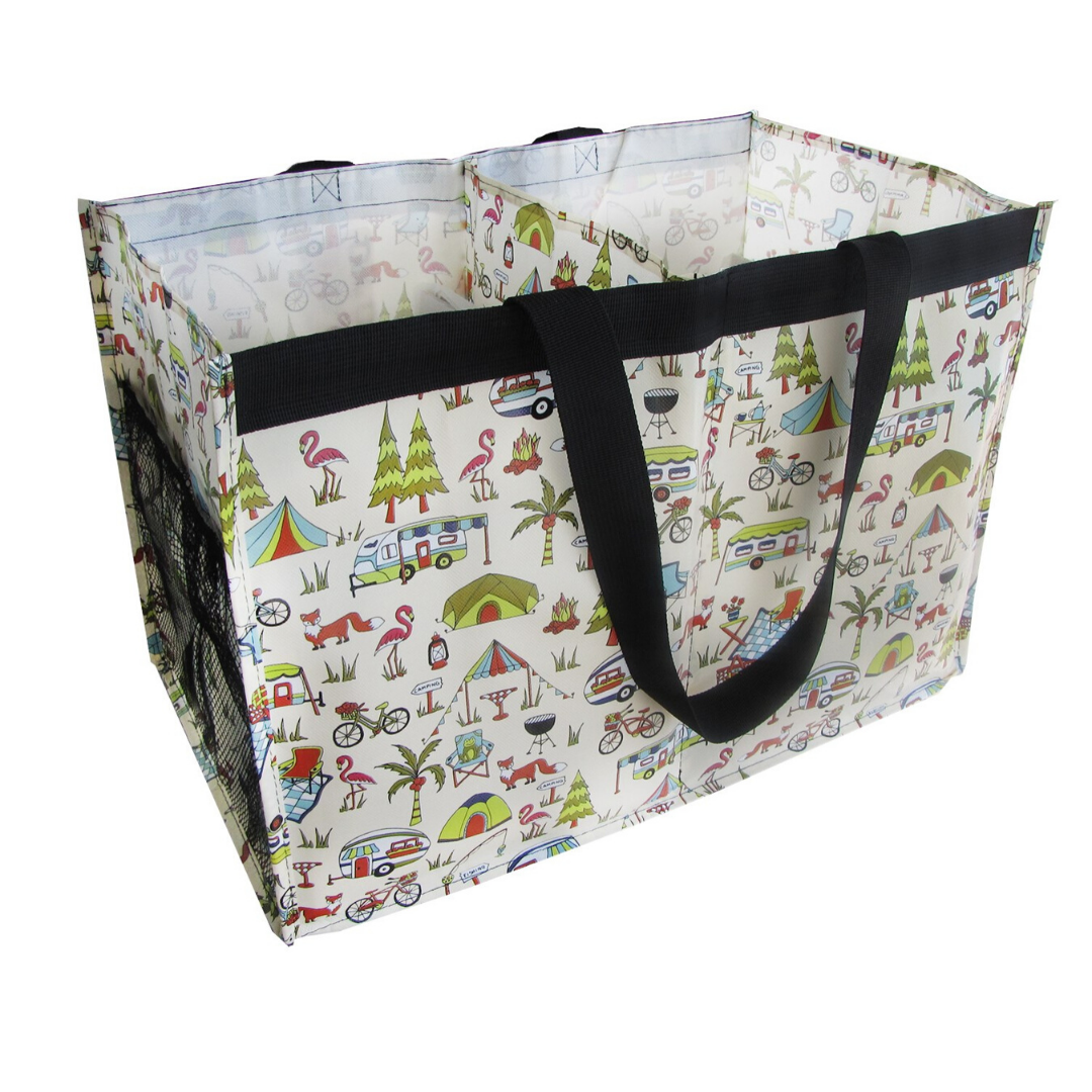Camping Daily Double Shopping Tote