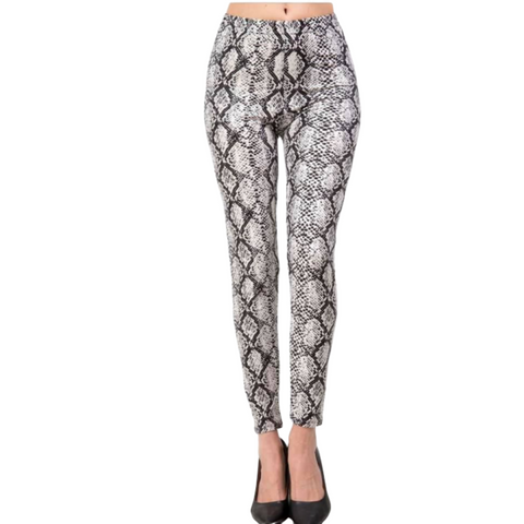 Personalized this White Birch Snakeskin Leggings for Women