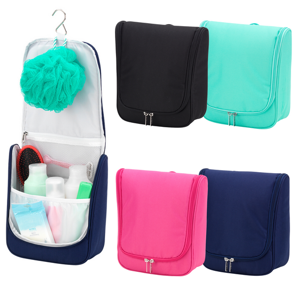 solid hanging cosmetic bag