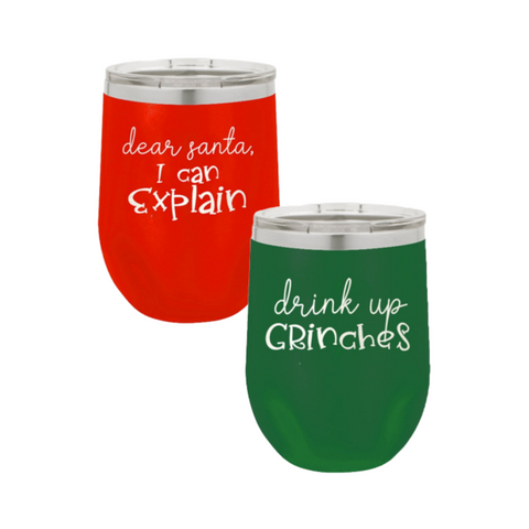 Christmas Insulated Tumbler 12oz