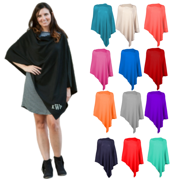 Personalized this Chelsea Poncho for Women comes in different colors to choose from