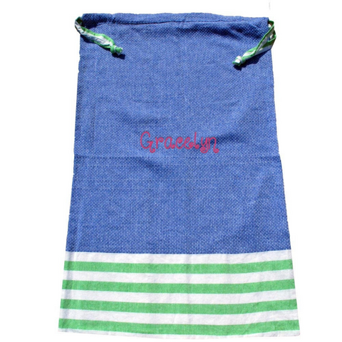 laundry bag, navy laundry bag, green laundry bag