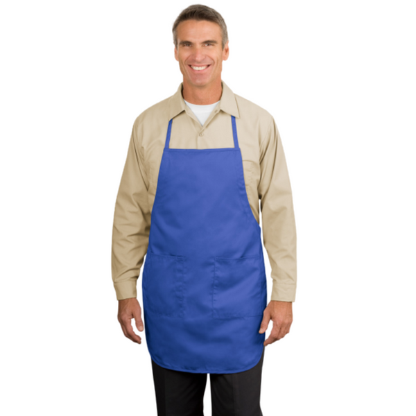 Full Length Apron with two Patch Pockets