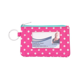 Personalized this Pink and White Dotted ID Case
