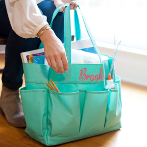 mint utility tote, utility tote