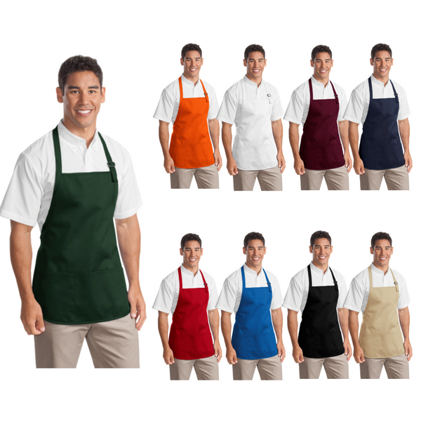 Personalized this Medium Length Apron with Pouch Pockets