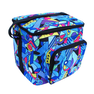 Geometric Waves Potluck Tote