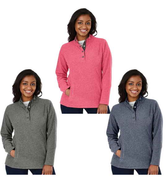 Personalized this Fleece Pull Over comes in different colors