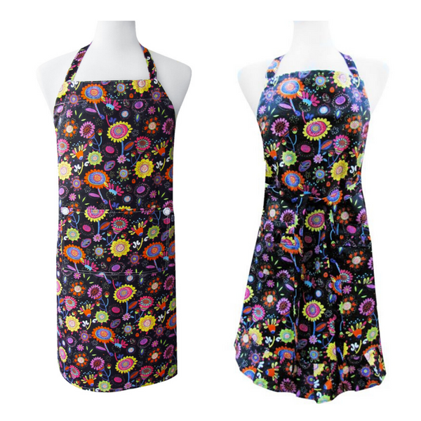 Personalized this Bright Poppies Apron