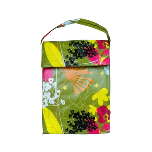 botany lunch bag, floral lunch bag