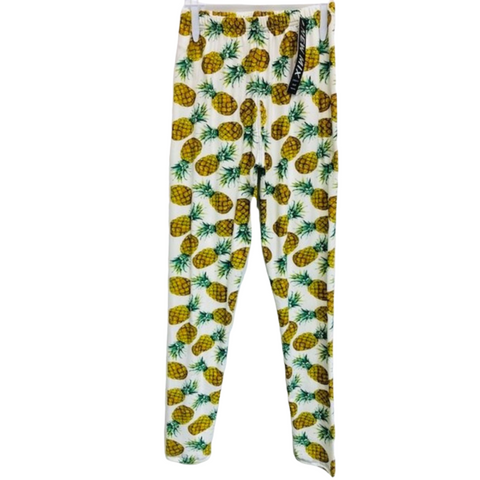 pineapple print, pineapple leggings, women leggings, soft leggings