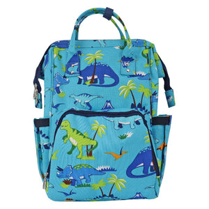 dino diaper backpack, diaper backpack, kids backpack