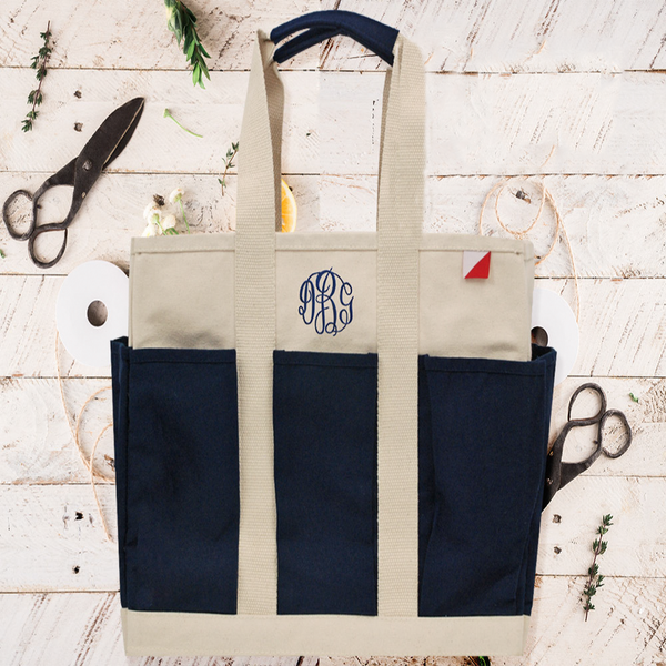 utility tote, 8 pockets tote
