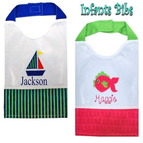 Personalized these cute bib comes with two different styles, perfect for gift.