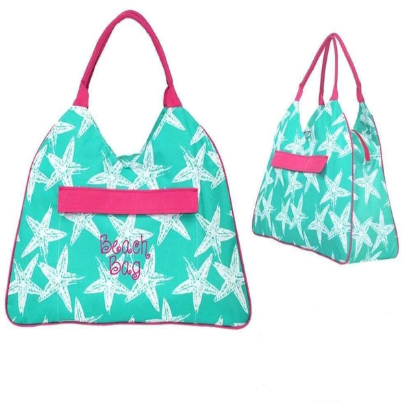 Personalized this sea star large tote bag, perfect bag to carry your things to the beach or pool.