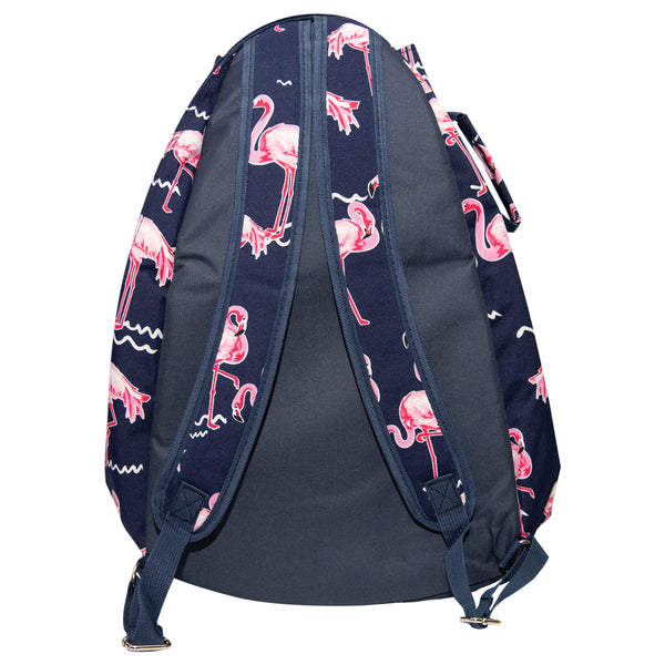 Tennis Backpack Flamingo Navy Trim