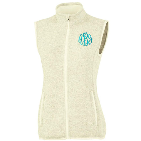 Personalize your vest now with this Heathered Fleece sweatshirt, perfect for layering.