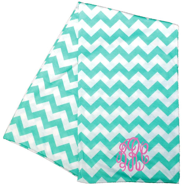 mint chevron scarf