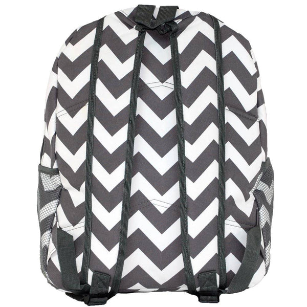 Gray Chevron Backpack