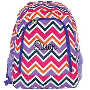 Multi Chevron Backpack